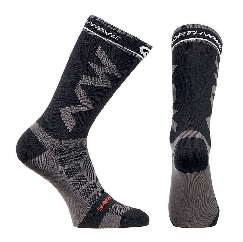 Northwave Extreme Pro Socks- M, Black/Grey, 2019