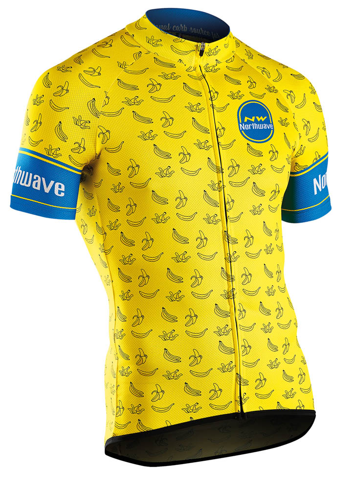 Northwave Banana Split Jersey Short Sleeves - L, Yellow, 2019