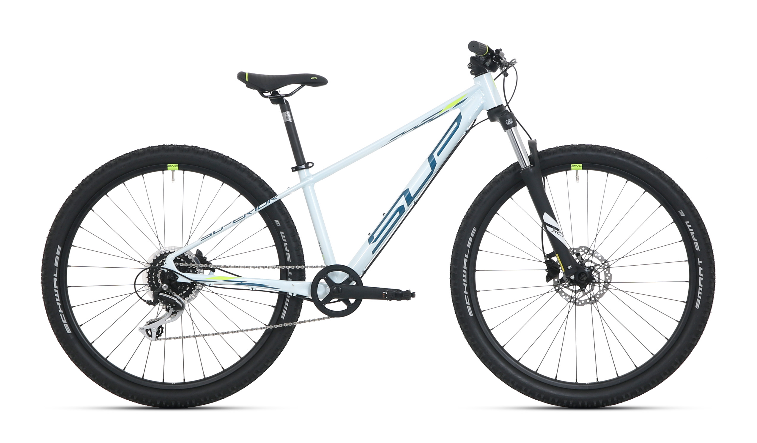 "Superior kolo Racer XC 27 DB, Gloss White/Petrol Blue/Neon Yellow vel. 13.0""(XS) - 2021"