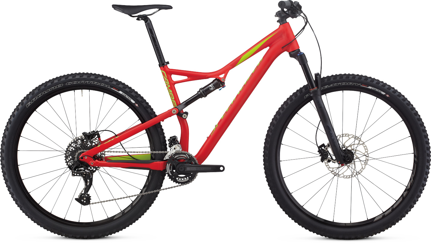 Specialized Camber FSR Comp 29 Flo Red/Hyper Green/Monster Green 2017 - M