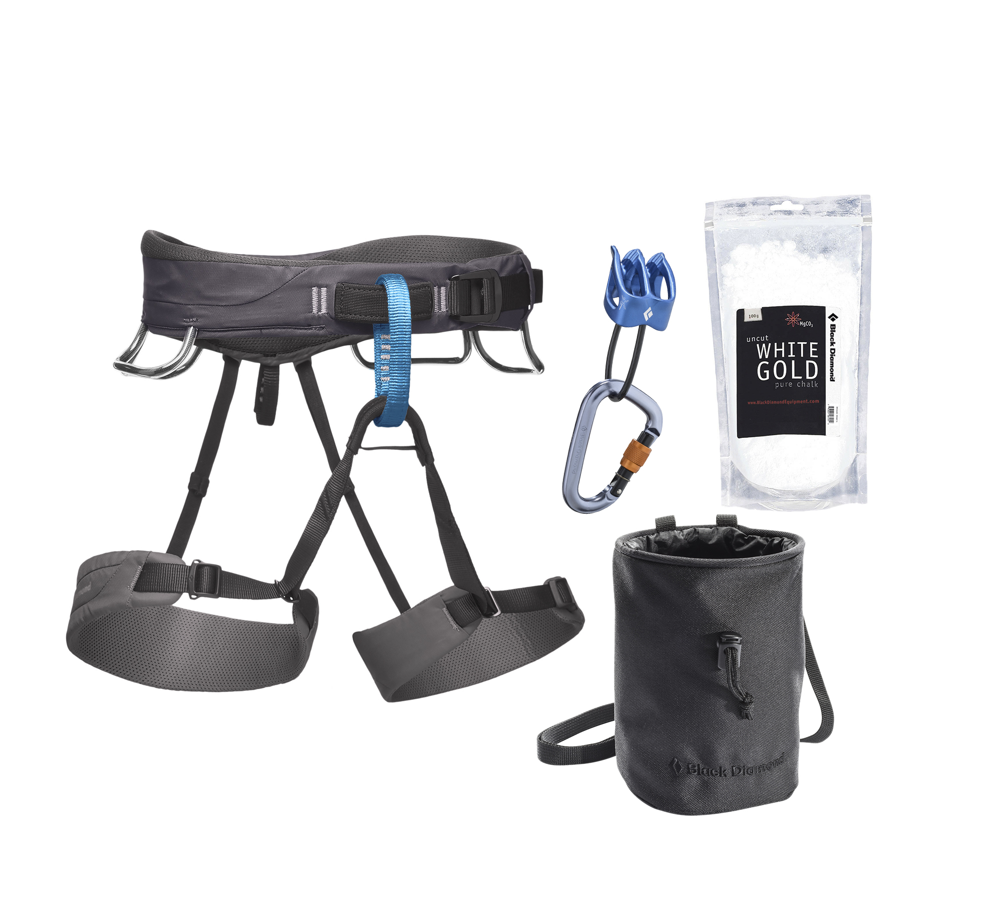Black Diamond MOMENTUM HARNESS - M'S PACKAGE, Slate - L