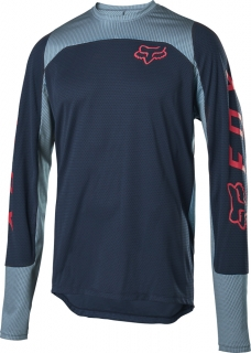 Fox MTB Defend Ls Fox Jersey - L, Navy