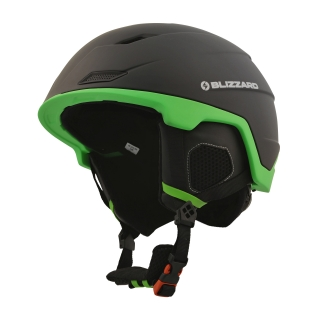 Blizzard helma Double black matt/neon green 60-63, 18/19