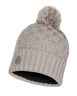 Buff knitted polar hat airon mineral grey
