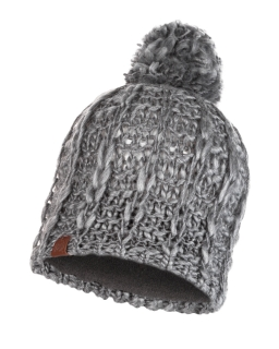 Buff knitted polar hat liv pebble grey