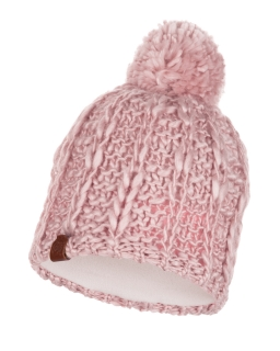Buff knitted polar hat liv coral pink