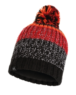 Buff knitted polar hat stig black