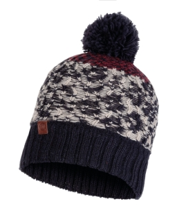 Buff knitted polar hat thor navy