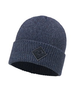 Buff knitted hat pavel medieval blue