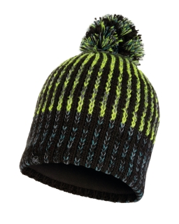 Buff knitted polar hat iver black
