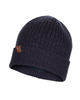 Buff knitted hat kort night blue