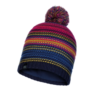 Buff čepice KNITTED & POLAR HAT NEPER NIGHT BLUE