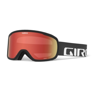 Giro Cruz black wordmark amber scarlet 19/20