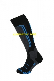 Blizzard Allround ski socks junior, black/anthracite/blue, size 30-32, 18/19