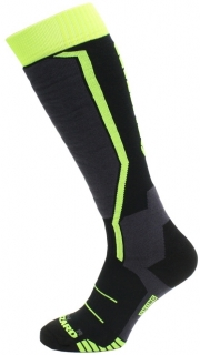 Blizzard Allround ski socks junior, black/anthracite/signal yellow, size 27-29, 18/19