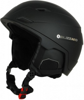 Blizzard Double ski helmet, black matt, size 56-59 uni, 18/19