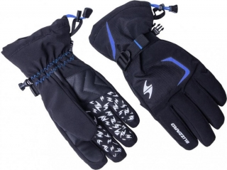 Blizzard Reflex ski gloves, black/blue, size 10, 18/19