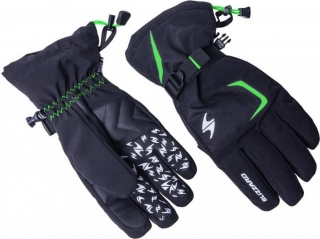 Blizzard Reflex ski gloves, black/green, size 9, 18/19