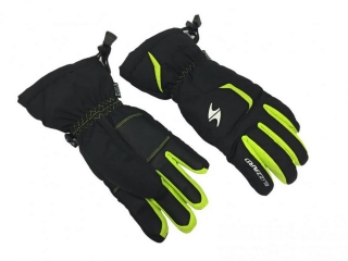 Blizzard Rider junior ski gloves, black/green, size 6, 18/19