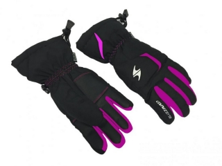 Blizzard Rider junior ski gloves, black/pink, size 6, 18/19