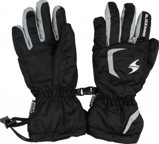 Blizzard rukavice Rider jr, black/silver - 5